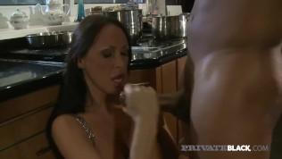 PrivateBlack – Big Boobed Milf Mandy Bright Bangs Big Black Cock In Kitchen