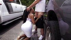 XXXJoX Jayla Foxx Ebony Fucked In Car Park